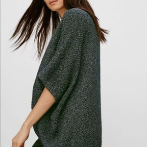 Olive green shrug from Aritzia